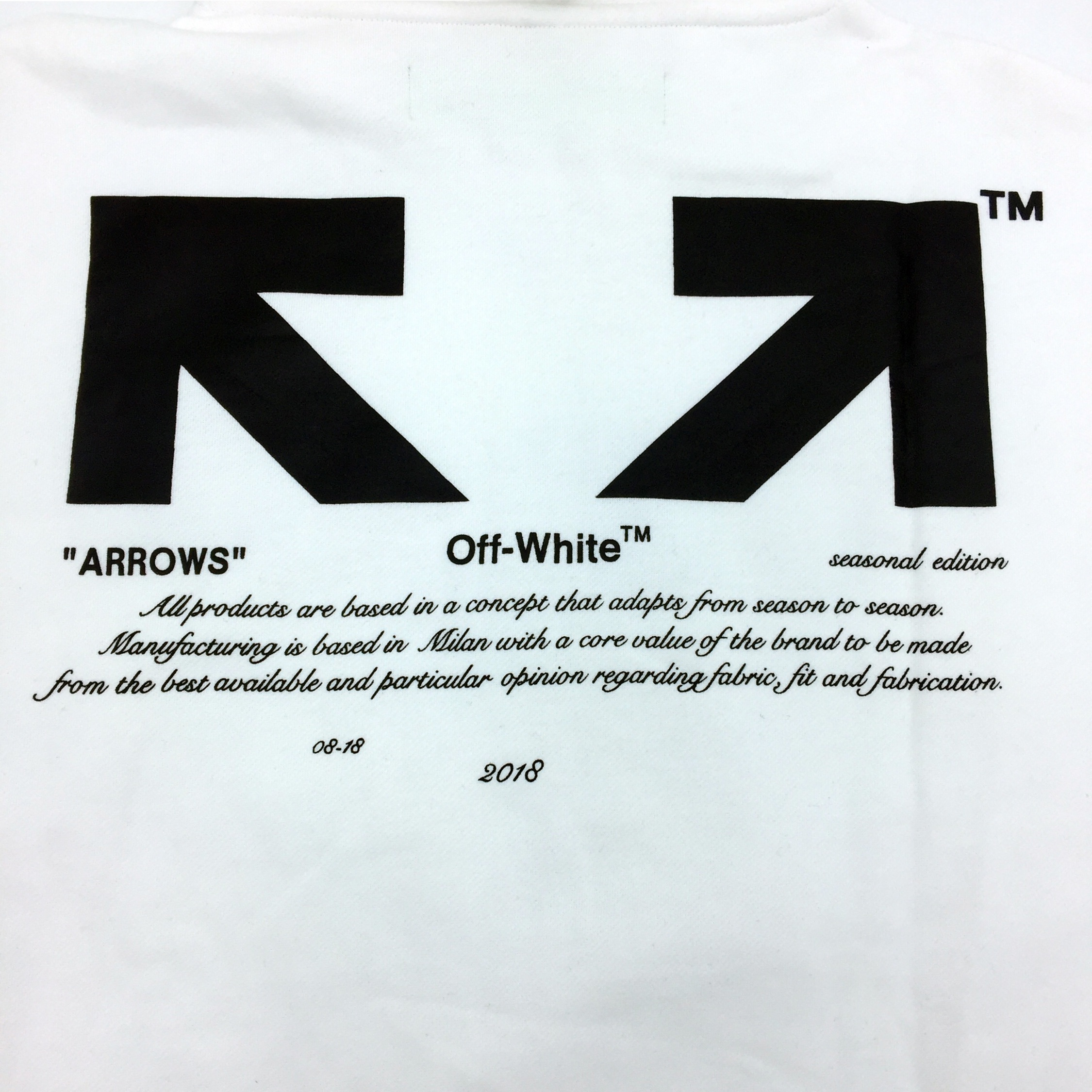 "Off-White C/O Virgil Abloh ""For All"" Arrows Hoodie"
