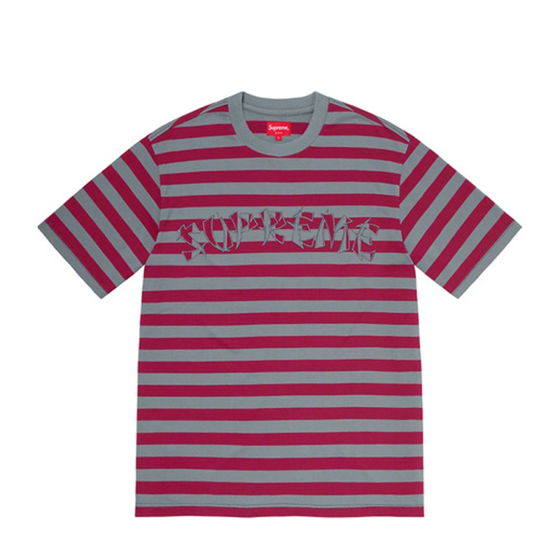 Supreme Stripe Applique SS Top Slate