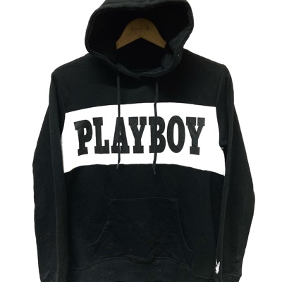 Playboy Big Logo Embroidery Spell Out Hoodies