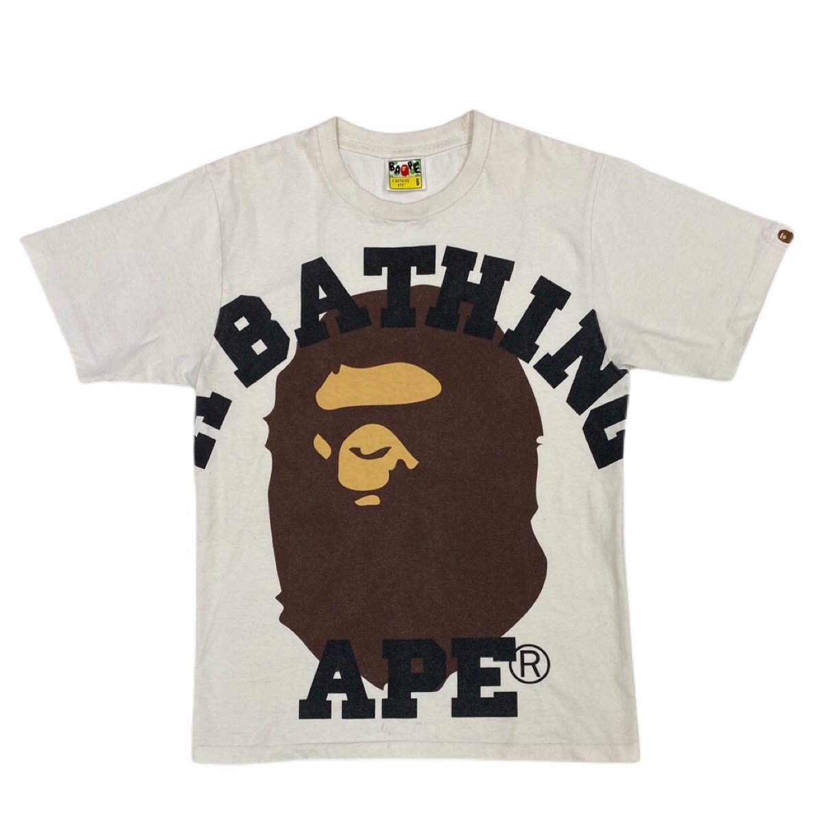 Bape big ape white tee
