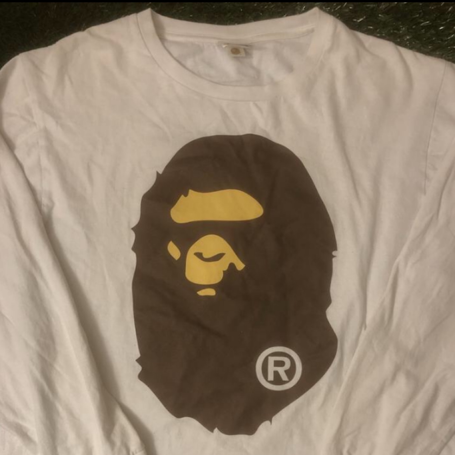 A Bathing Ape 'Big Ape Head' Longsleeve Tee