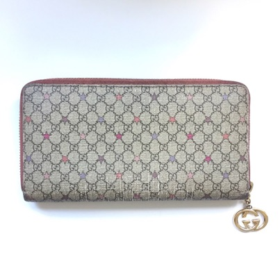 Gucci Vintage Zip Around Star Wallet