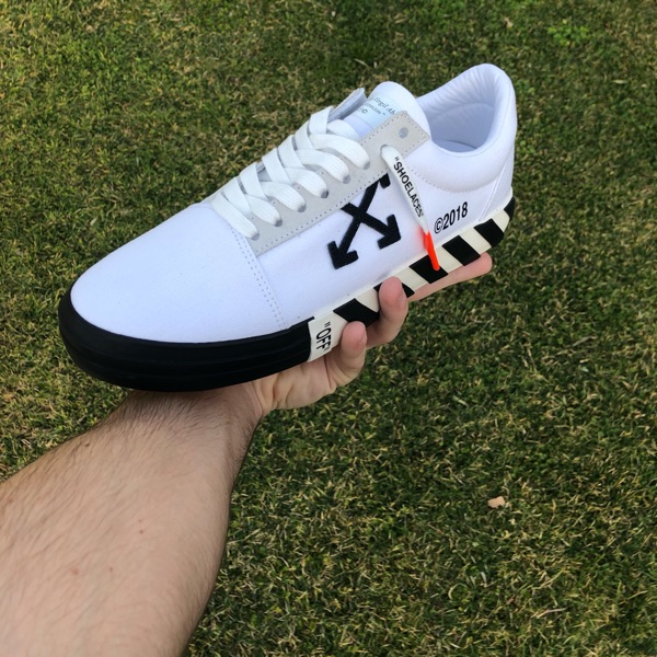 Off White Vulc Low (Updated Stripes)