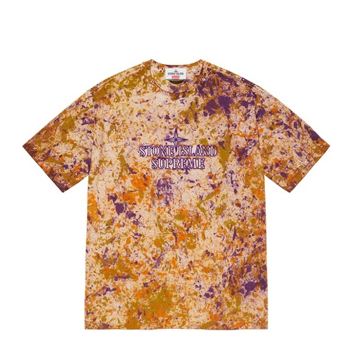 Supreme Stone Island Embroidered Logo SS Top Orange