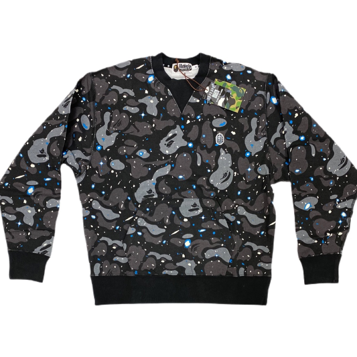 Authentic Bape relaxed space camo crewneck Brand new with tags