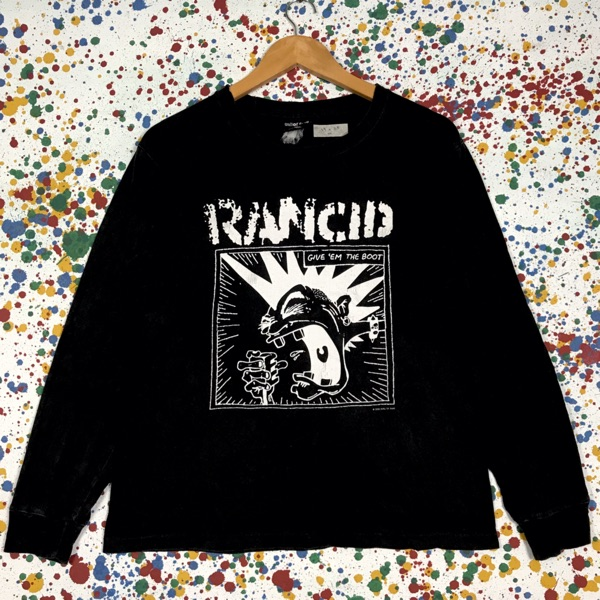 Rare! Vintage 00S Rancid Band Punk Tees L/S
