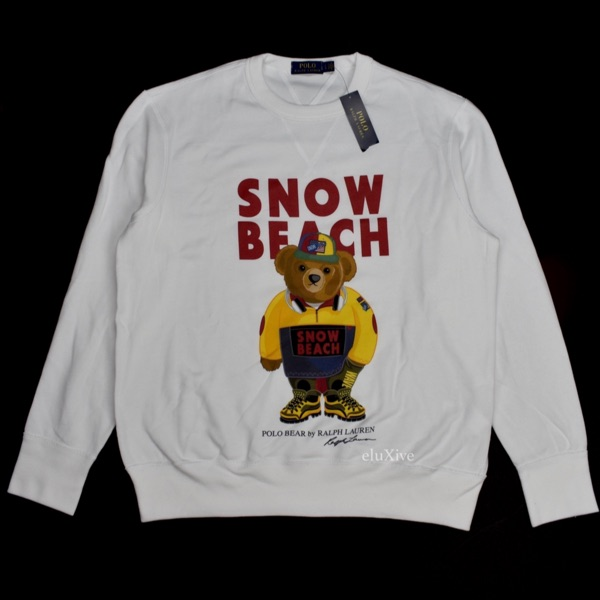 Polo Ralph Lauren Snow Beach Sweatshirt New L