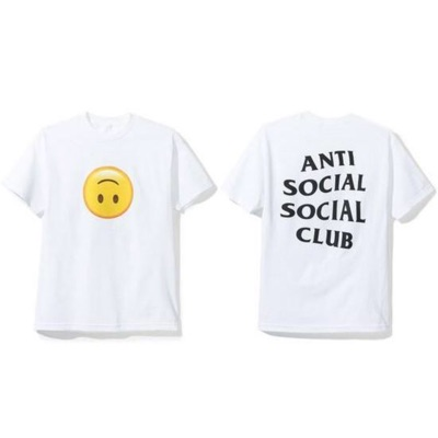 Anti Social Social Club Smile Emoji Hmu Tee