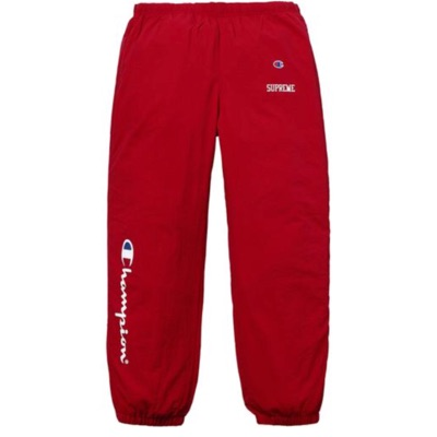 Supreme X Champion Track Pants Red Large