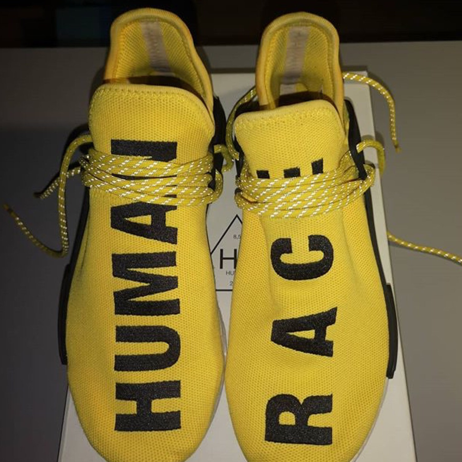best sneakers 4fe20 bccf6 Adidas Nmd Hu Pharrell Human Race Yellow