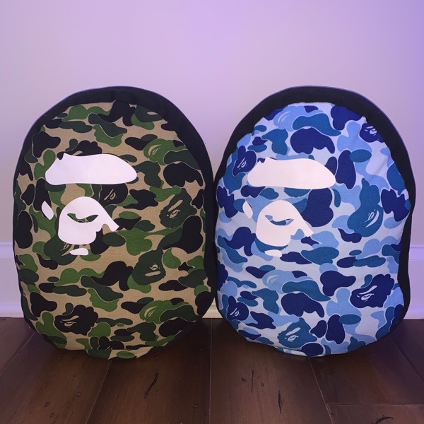 BAPE ABC Camo Pillow Green