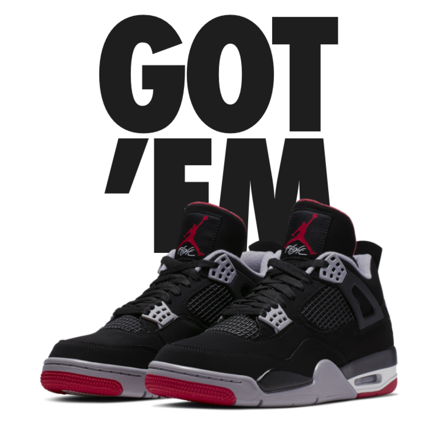 buy online 4d51f d135a Air Jordan 4 Retro Bred Eu 45,5 Us 11.5