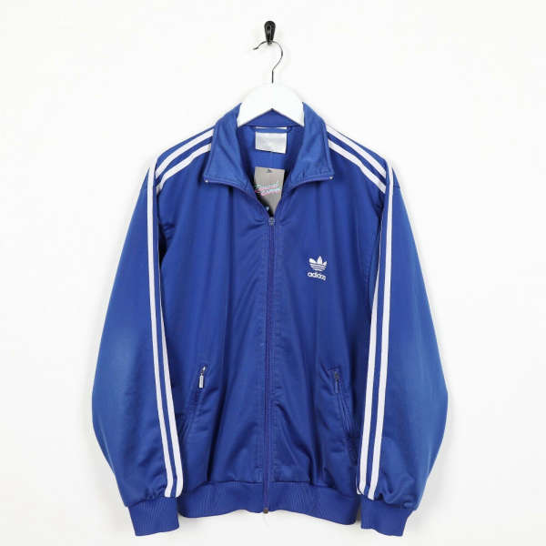 Vintage 80s ADIDAS Small Logo Track Top Jacket Blue XS