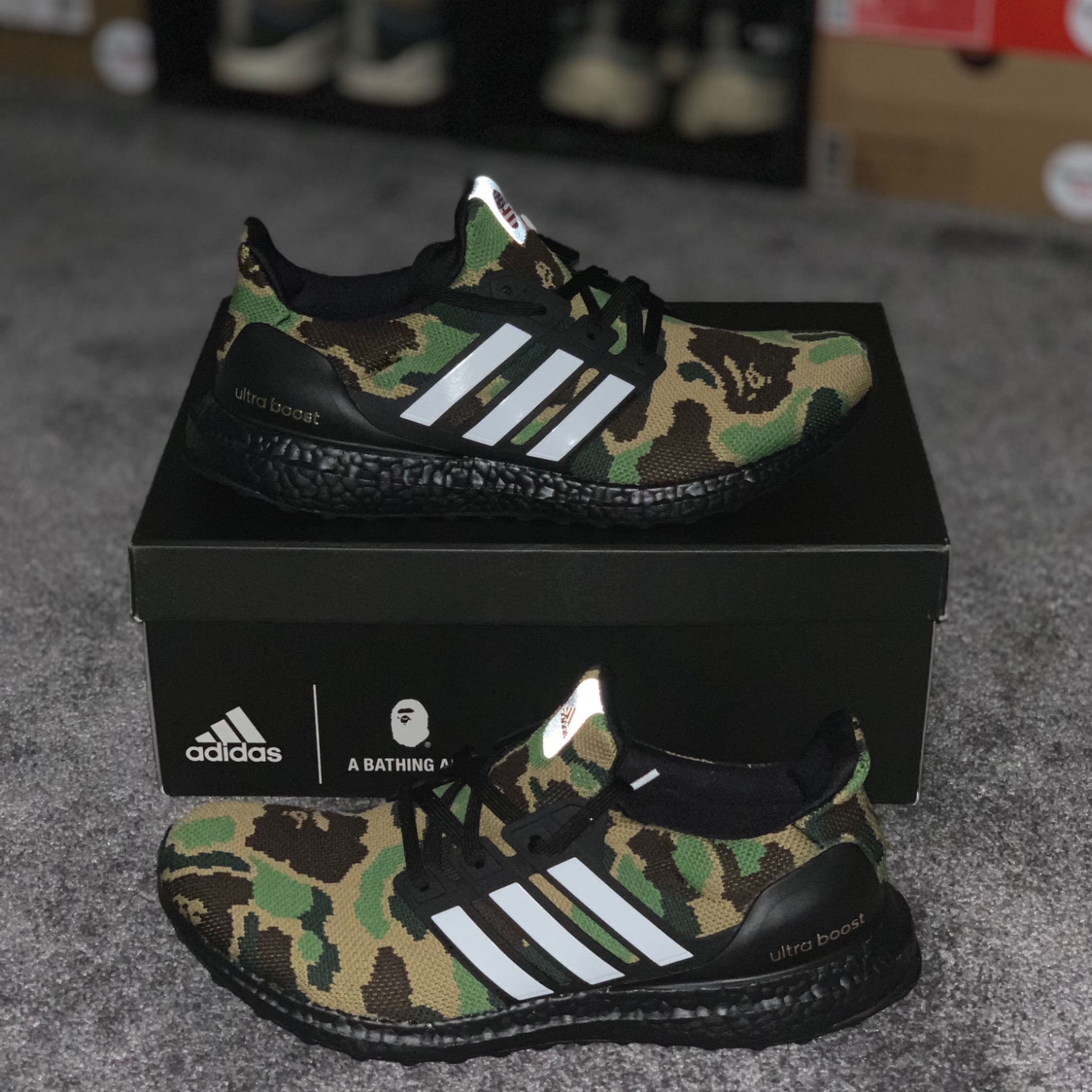 be92c0a079850 Bape X Adidas Ultra Boost 4.0  Green Camo
