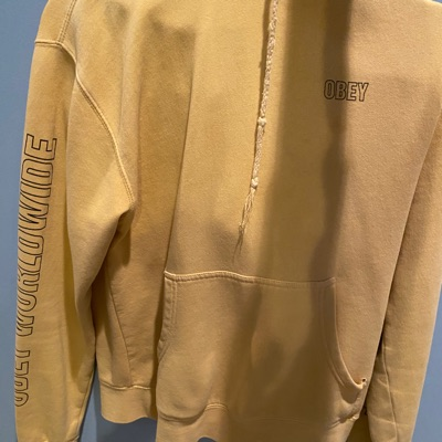 Mustard Yellow Obey Hoodie