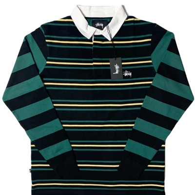 Stussy Polo Long Sleeve Shirt - Striped