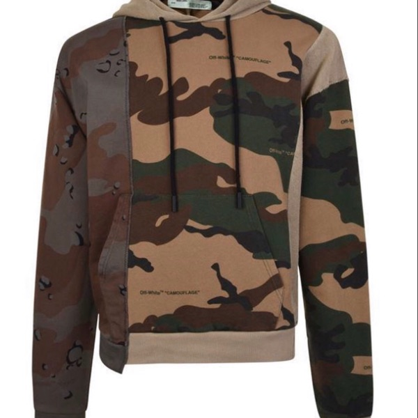 Off-White Reconstructed Camo Hoodie All Over