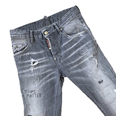 Dsquared2 Grey Twins Matter Slim Jeans