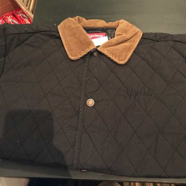 Supreme Quilted Paisley Jacket Black