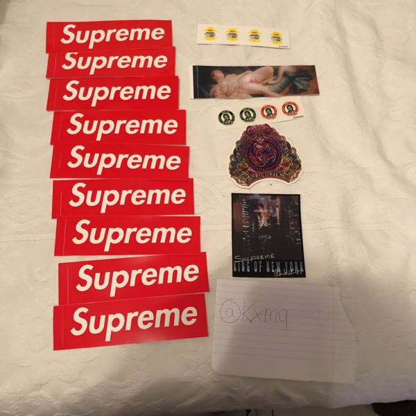 Supreme Stickers Set