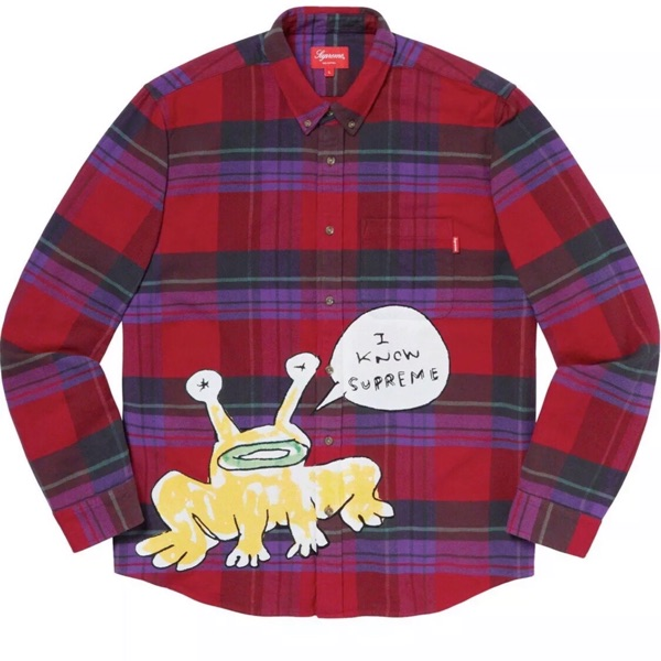 Supreme Daniel Johnston Plaid Shirt