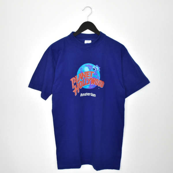 Vintage Planet Hollywood Amsterdam t-shirt top blouse tee in blue