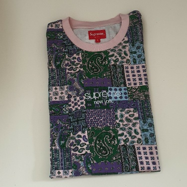 SS19 Supreme Patchwork Paisley S/S Top Tee