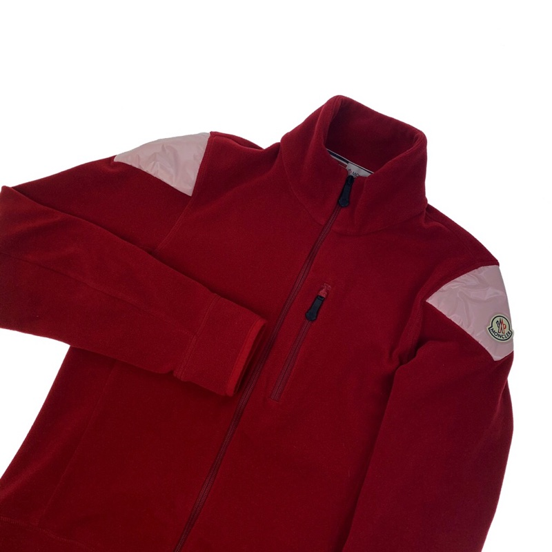 Moncler Red Full Zip Fleece