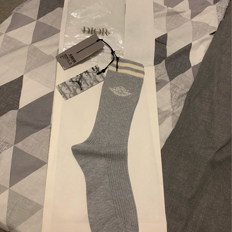 Dior X Jordan Wings Socks Grey