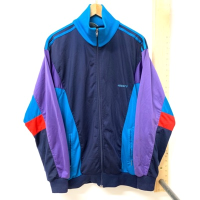 Adidas 90S Track Jacket Purple Blue And Navy