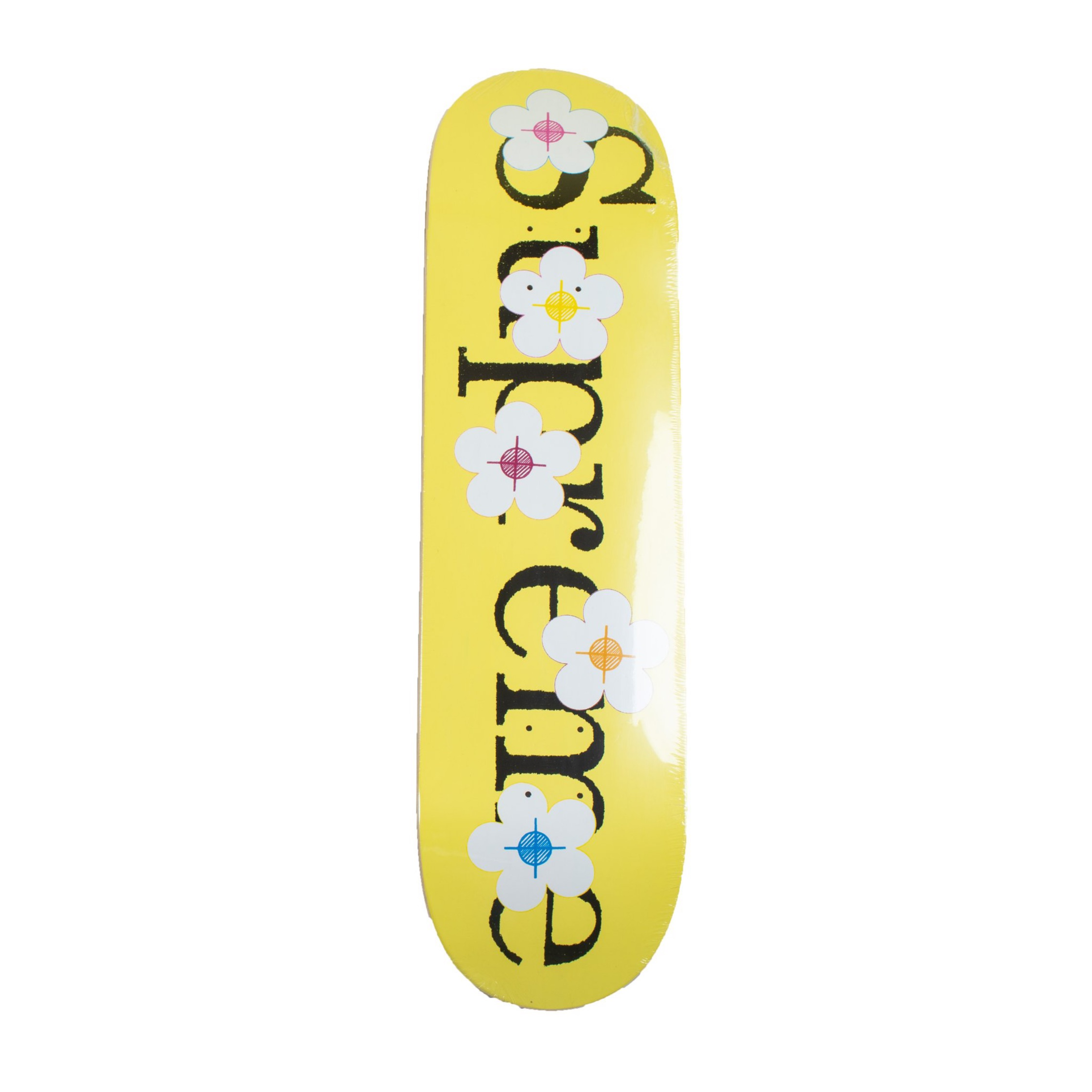 Supreme Flowers Skateboard Yellow