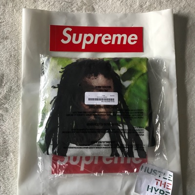 Supreme Buju Banton Photo Tee Shirt | Navy | Large
