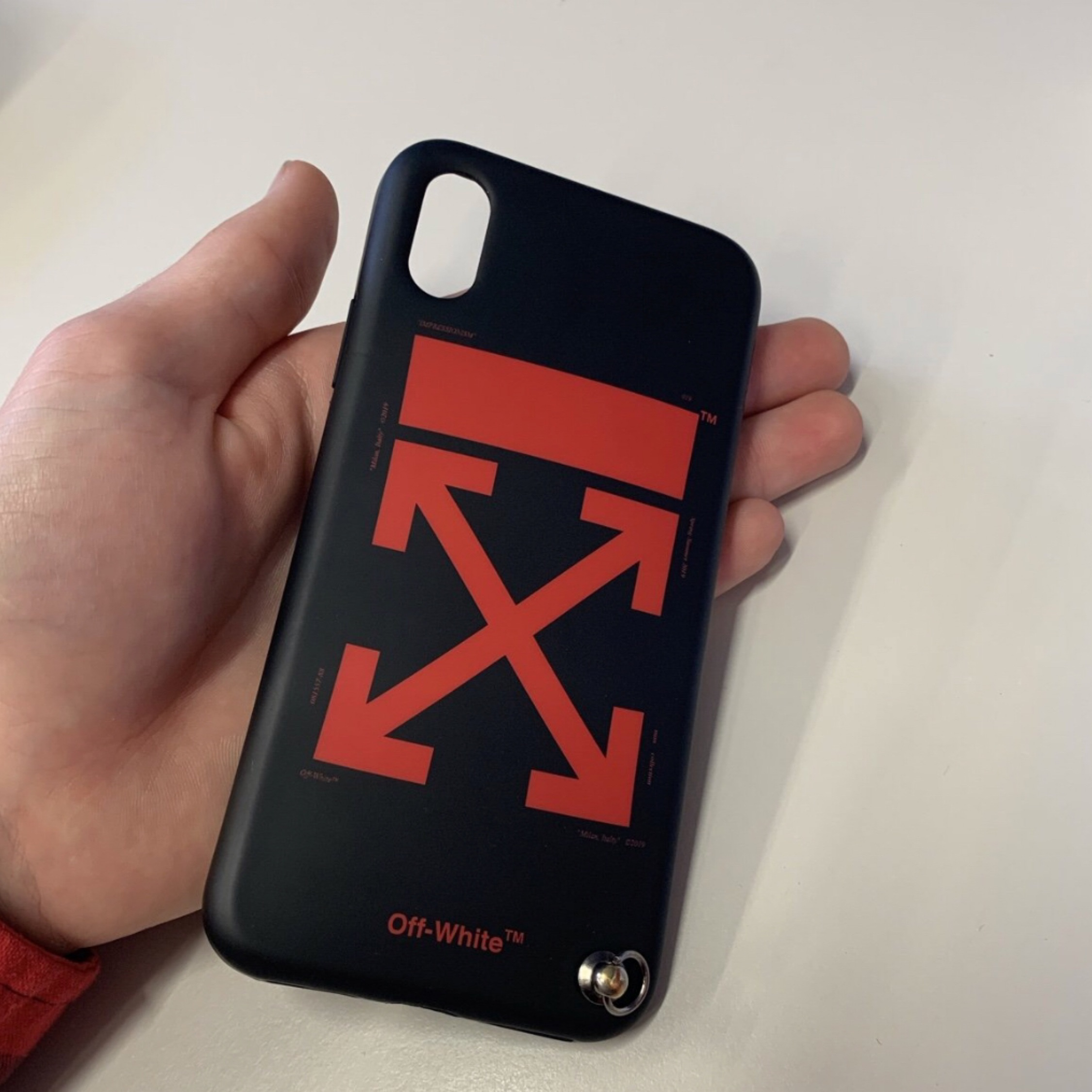 super popular b3f43 2e934 Off White X Virgil Abloh Iphone X/Xs Case