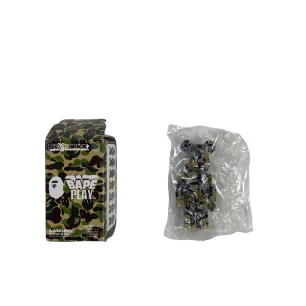 Bape Yellow Star Camo Bearbrick 100%