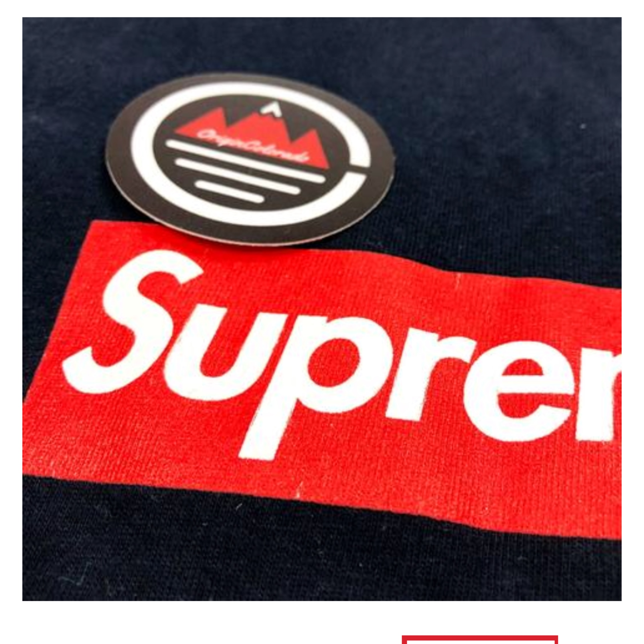Supreme Navy 20Th Anniversary Box Logo T Shirt