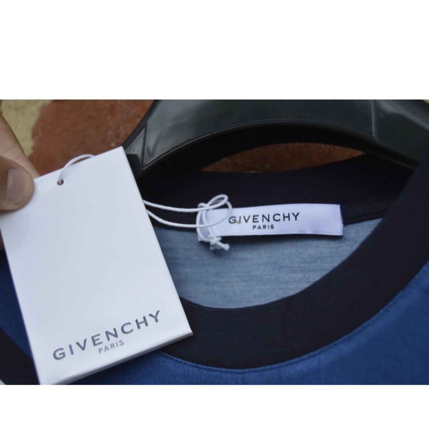 Givenchy Blue Totem Print Long Sleeve T-Shirt