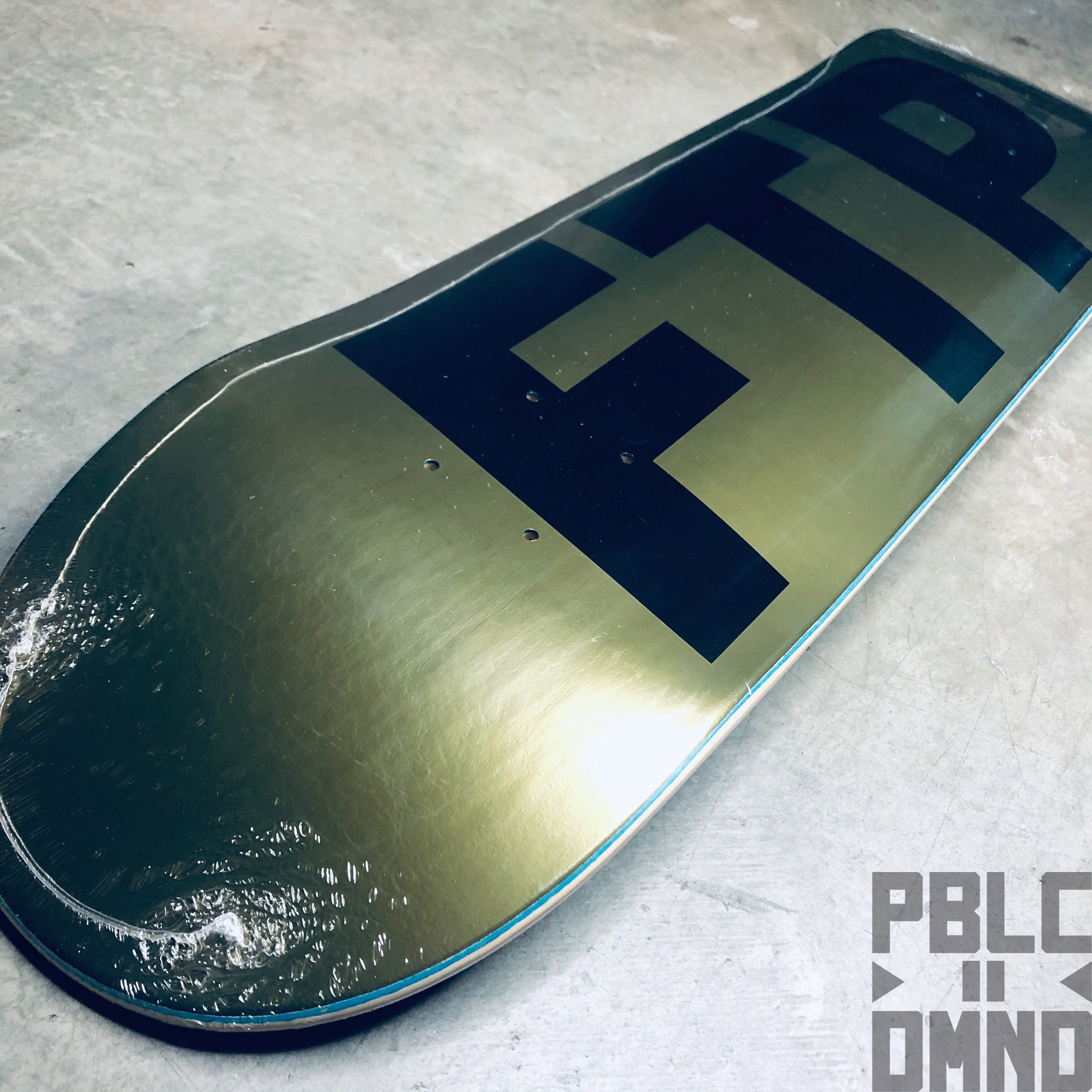 Ftp Logo Deck / Gold 10 Year Anniversary Size 8.25