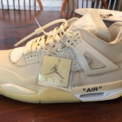Off-White Jordan 4 Retro Sail Wmns