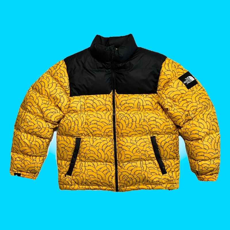 Yellow North Face Nuptse Puffer Jacket - Dome 1992