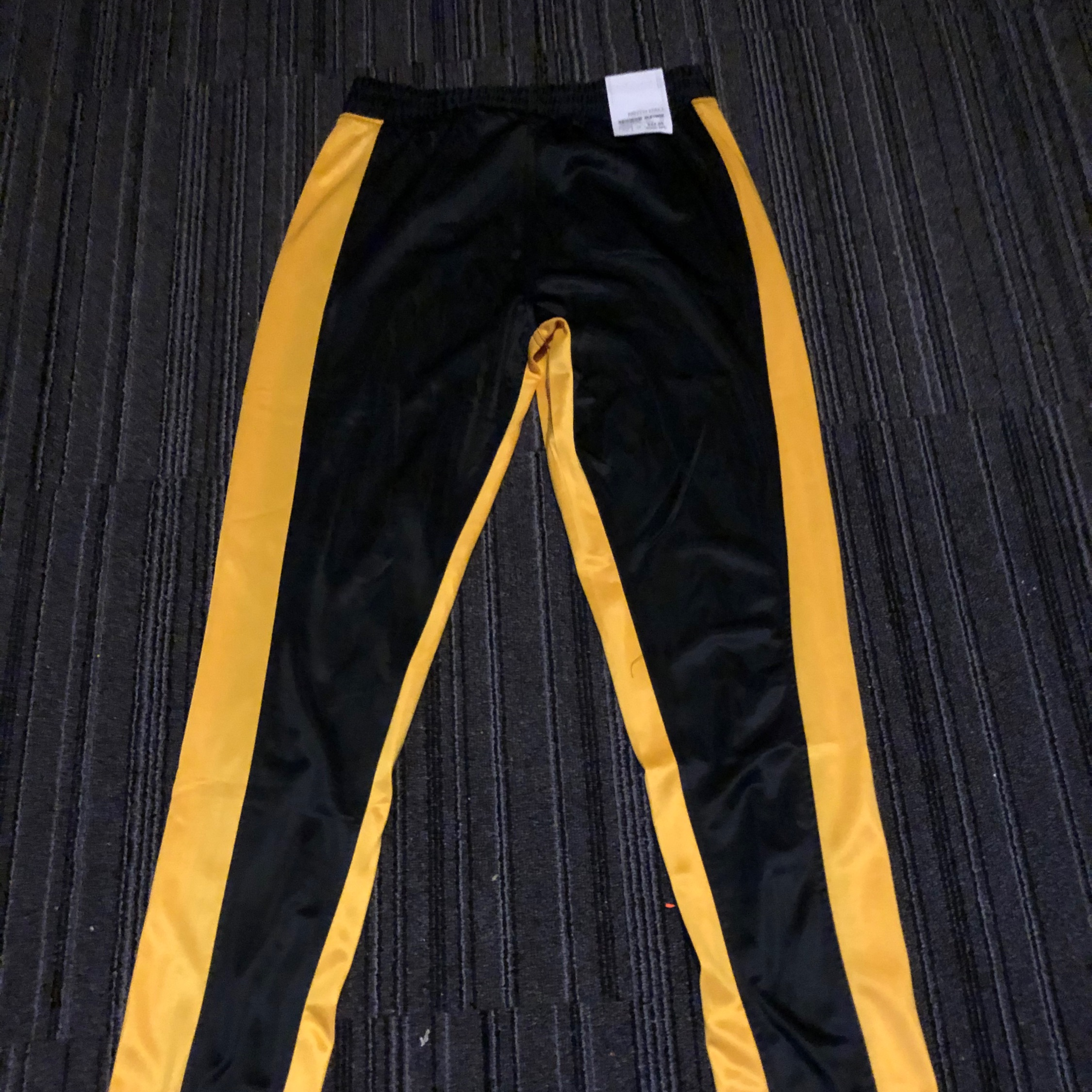 Yellow And Black Track Pants