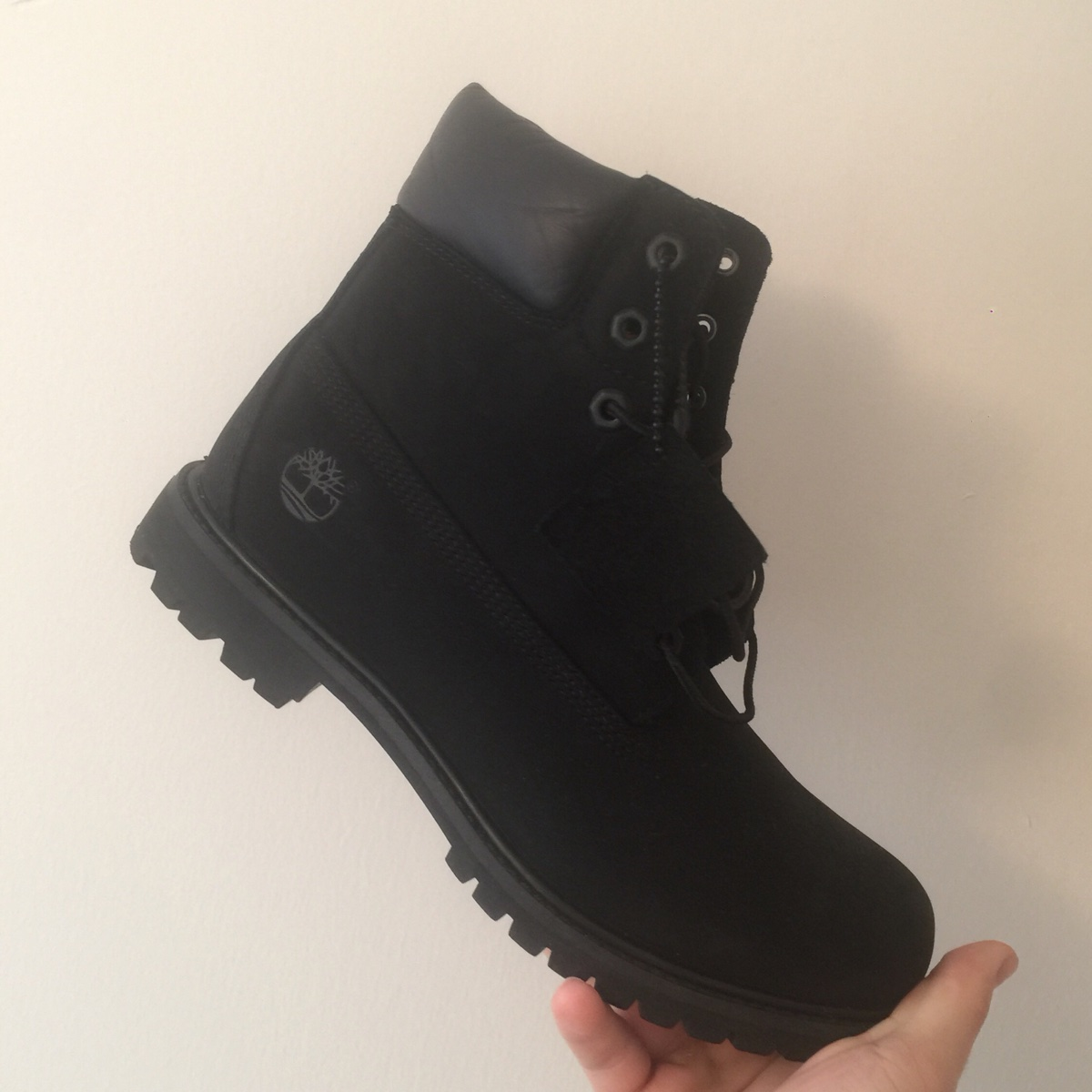 "Black Timberlands 6"" Boots"