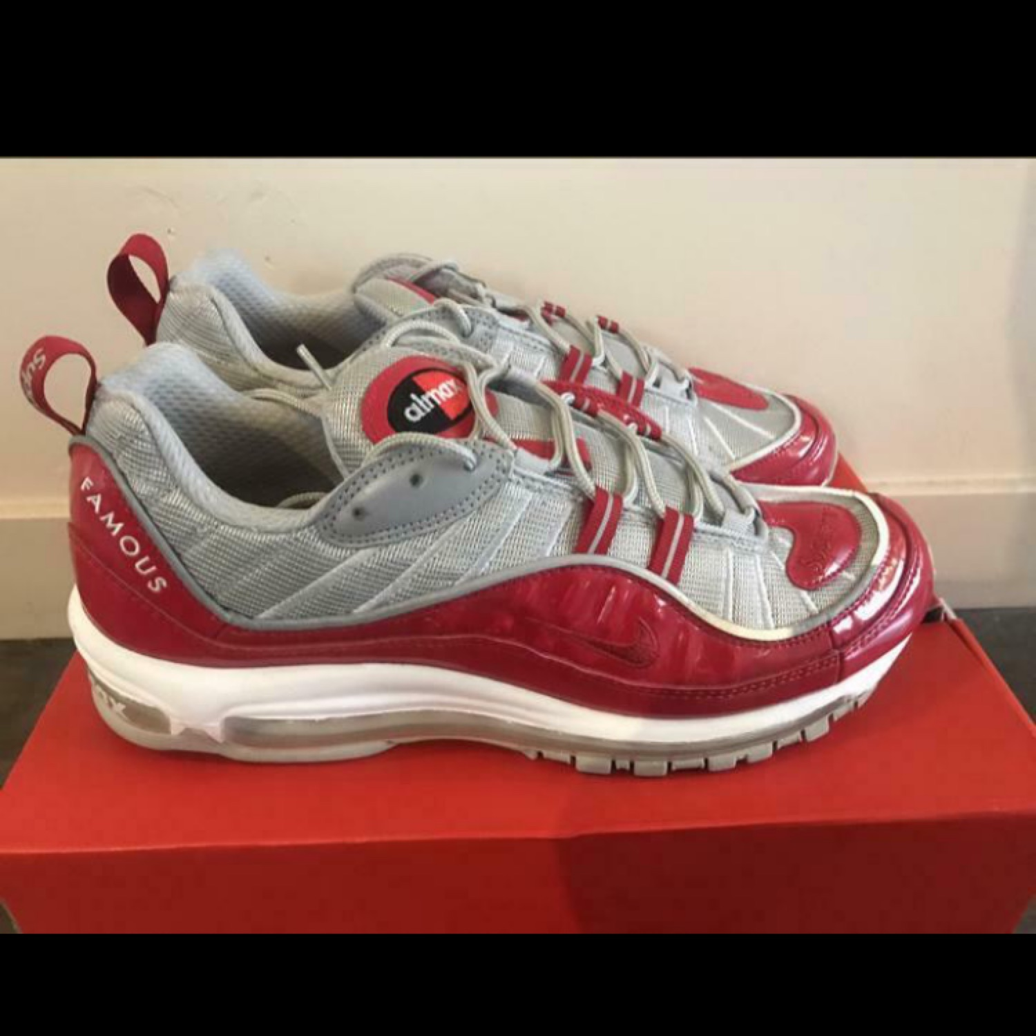 the best attitude 29b33 5d11c Nike Air Max 98 Supreme Red Us10.5 Vnds!