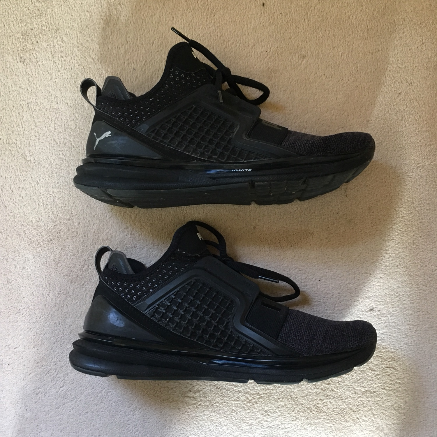 the latest c8ab9 bdfd9 Puma Limitless Weave Trainers Black/Grey/White