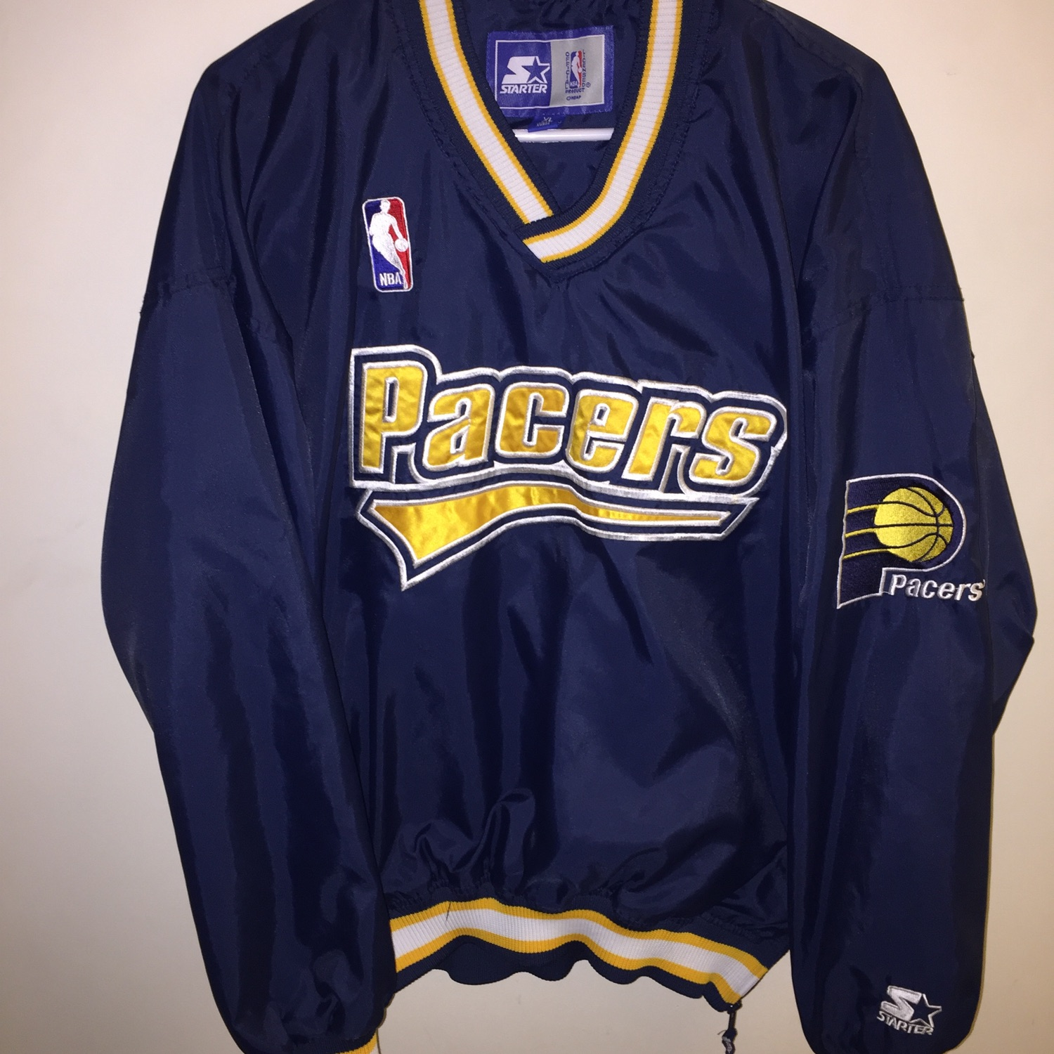best sneakers e43c4 d671d (Starter) Pacers Player Jacket !