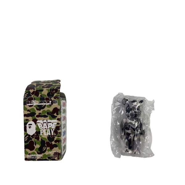 Bape White & Grey Camo Bearbrick 100%