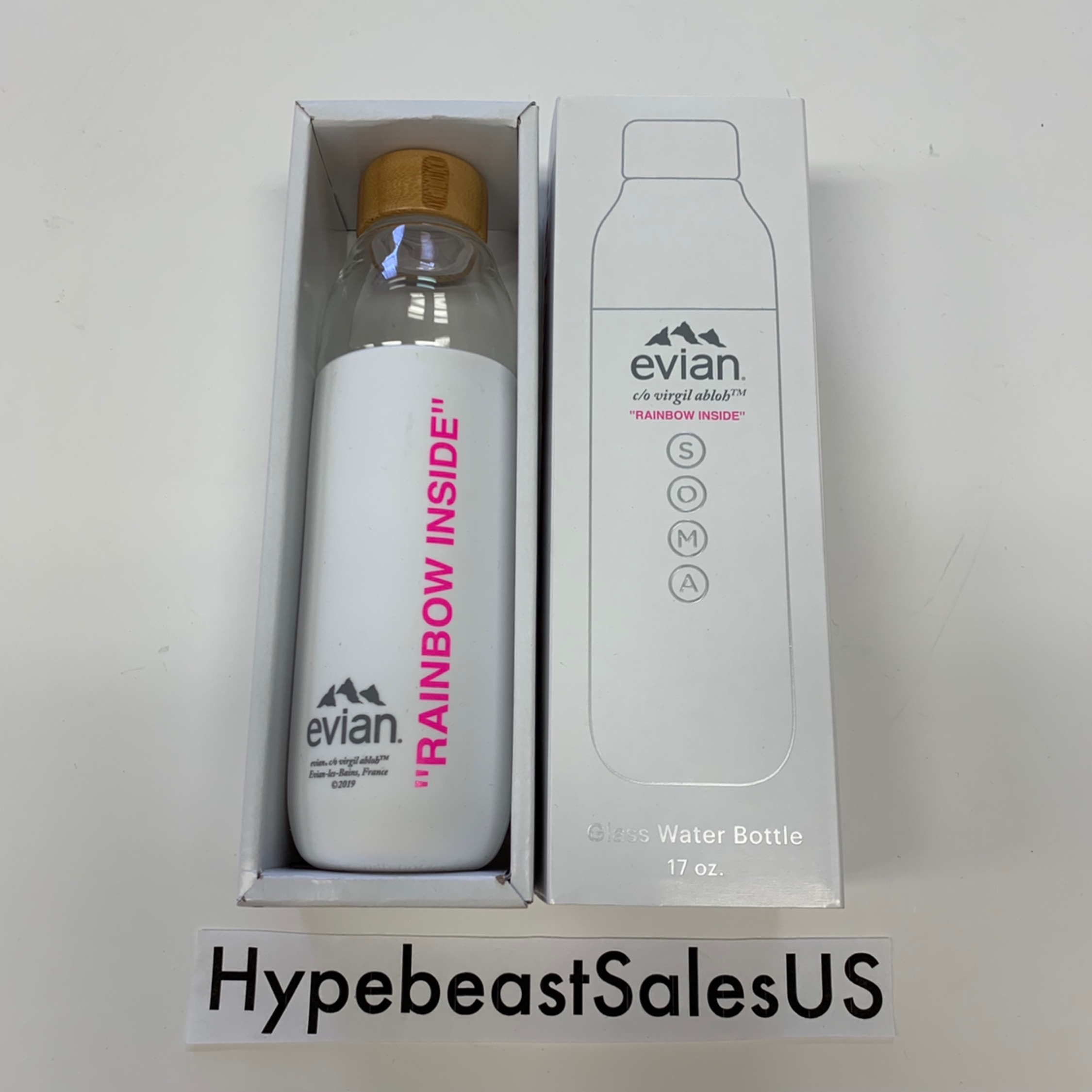 Evian By Virgil Abloh X Soma Glass Water Bottle
