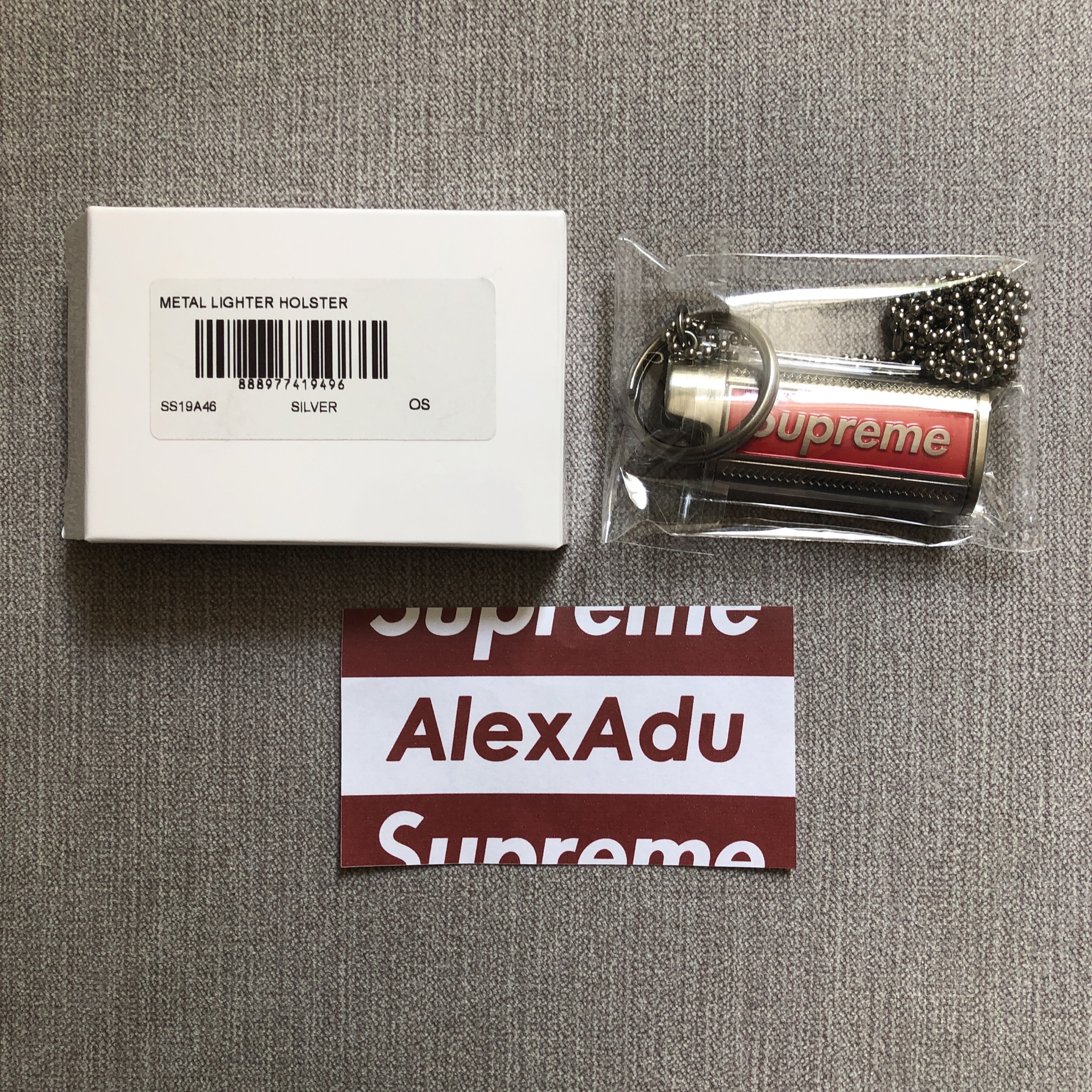 Supreme Metal Lighter Holster Key Chain Necklace SS19A46
