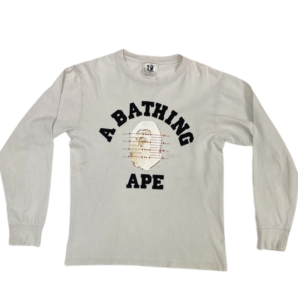 Bape white pusha T tee