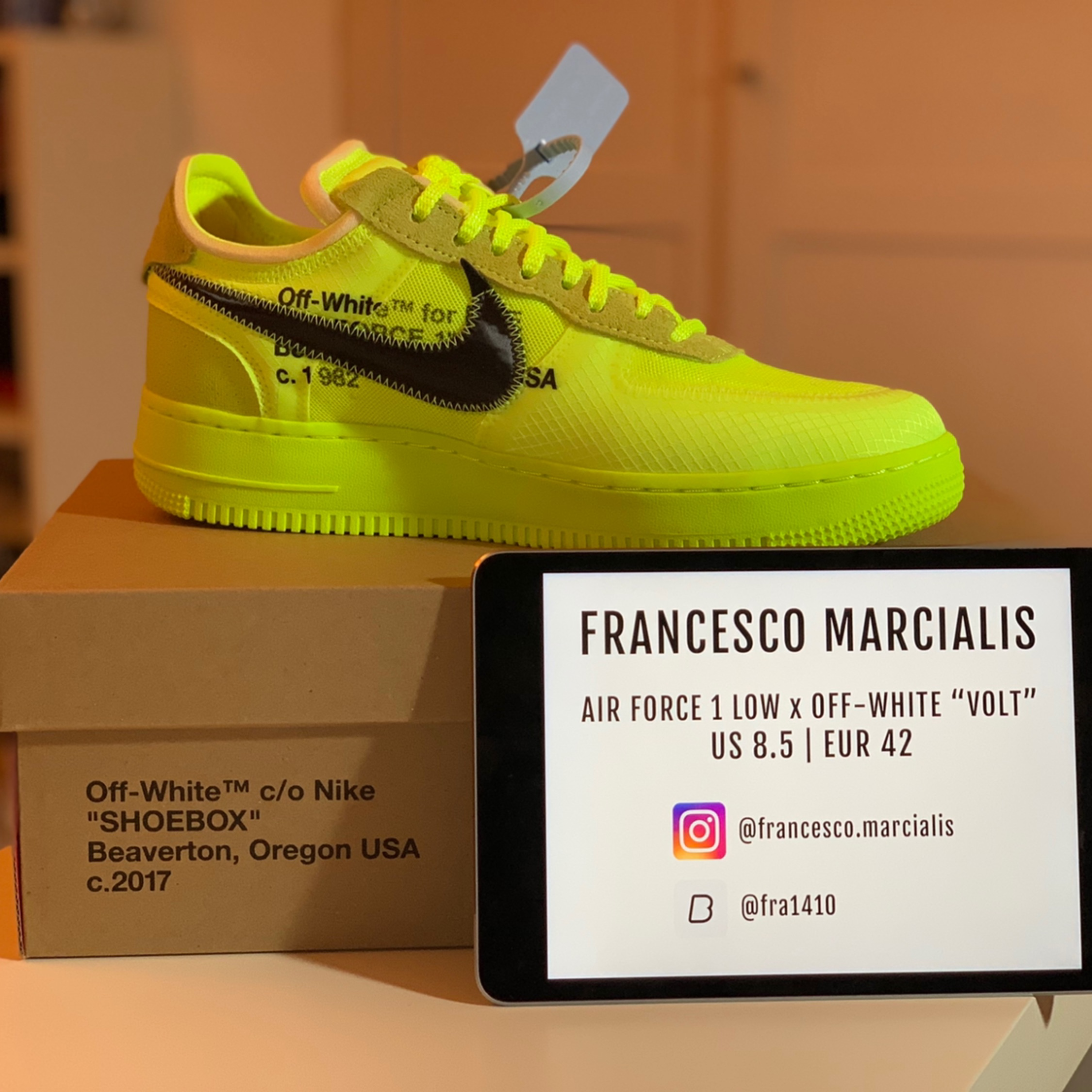 nike air force 1 low off white volt