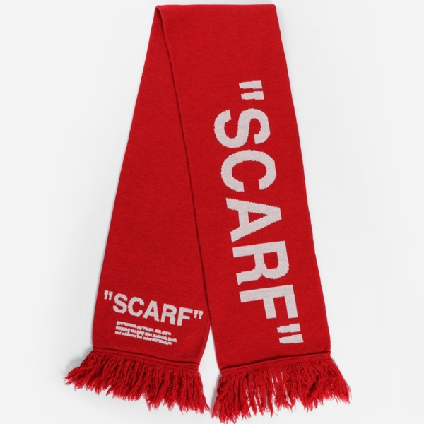 Off White Quote Scarf (Red)